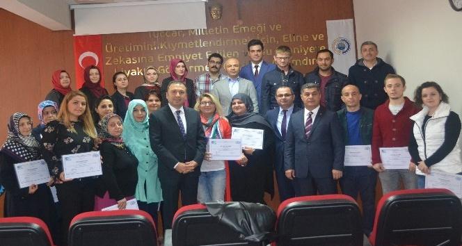 Girişimci adaylarının sertifika heyecanı