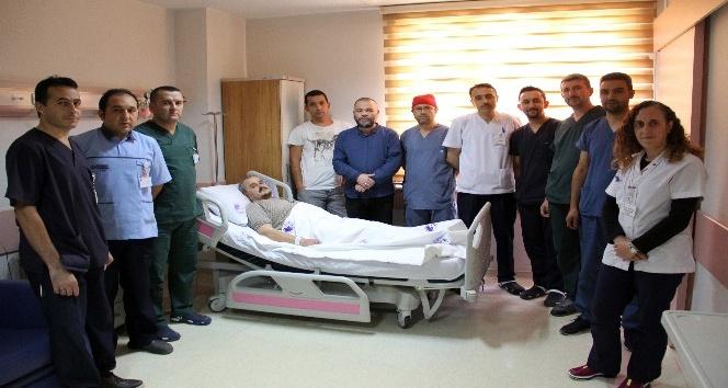 Hastanın bacağı kesilmekten son anda kurtuldu