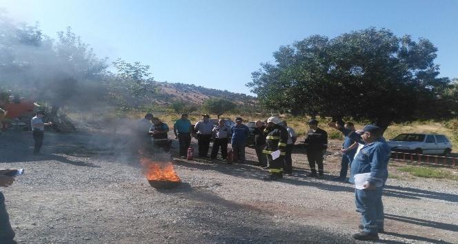 NATO personellerine uygulamalı yangın ve ilk yardım eğitimi verildi