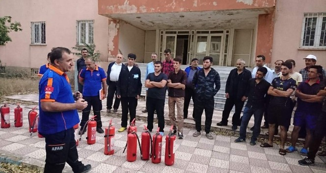 Bingöl'de yangın tatbikatı