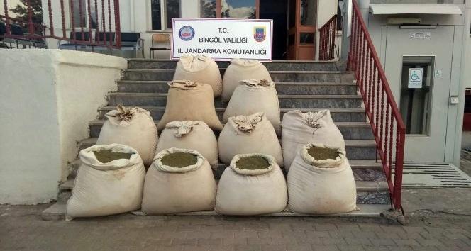 Bingöl'de 405 kilogram esrar yakalandı