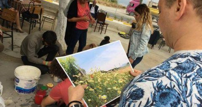 İpek Yolu Sanat Çalıştayı katılımcılarından Tüllüşah Resimleri