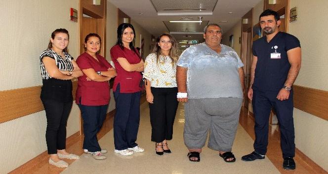 250 kilo olunca tüp mide ameliyatı oldu