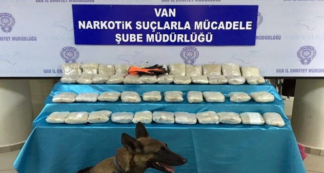 Van'da 22 kilo 342 gram eroin ele geçirildi