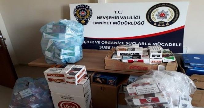 Nevşehir'de çok sayıda gümrük kaçağı eşya ele geçirildi