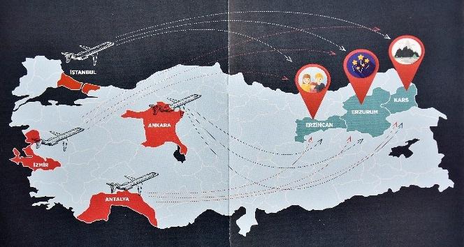 Kayağın İpek Yolu 'Ski Silk Road' Türkiye'ye tanıtılıyor
