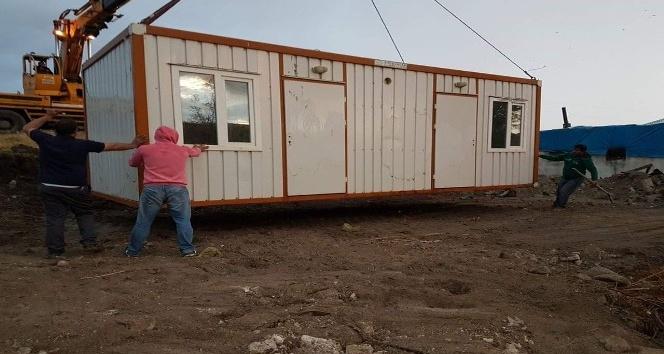 Tutak Kaymakamlığından konteyner ev yardımı