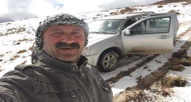 Berçelan Yaylası'na yılın ilk karı yağdı