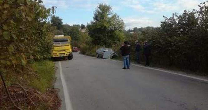 Alaplı-Yığılca yolunda kaza