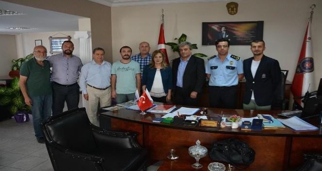 Sökeli gazetecilerden Emniyet Müdürü Yalçın Şipal'e ziyaret