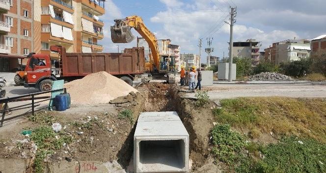 Soma'da su taşkınlarına karşı önlem