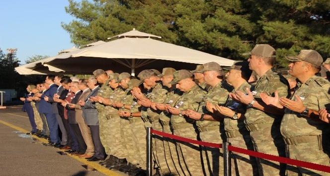 Hain saldırıda şehit düşen asker için tören düzenlendi