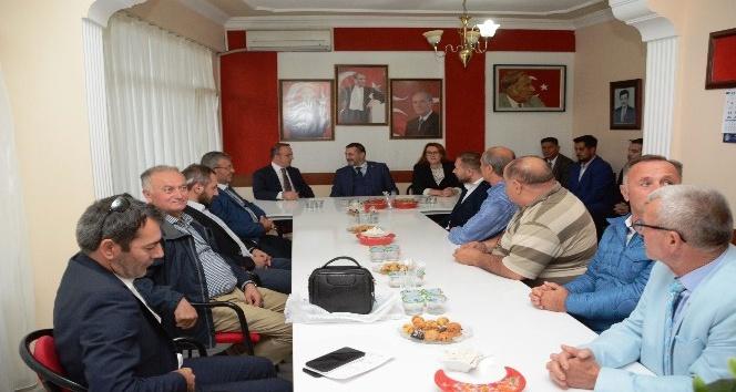 Turan'dan, MHP İl Başkanı Pınar'a ziyaret