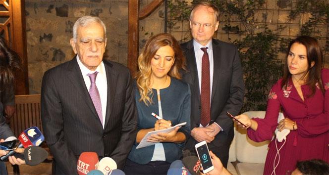 AB Büyükelçileri Ahmet Türkle görüştü