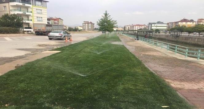 Beyşehir'de parklarda otomatik sulama sistemi tasarrufu