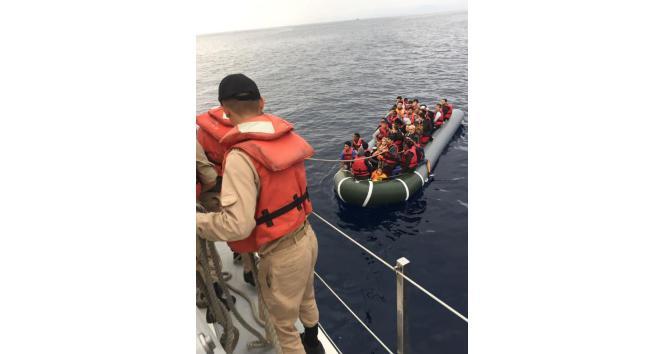 Kuşadası Körfezi'nde 45 kaçak göçmen yakalandı