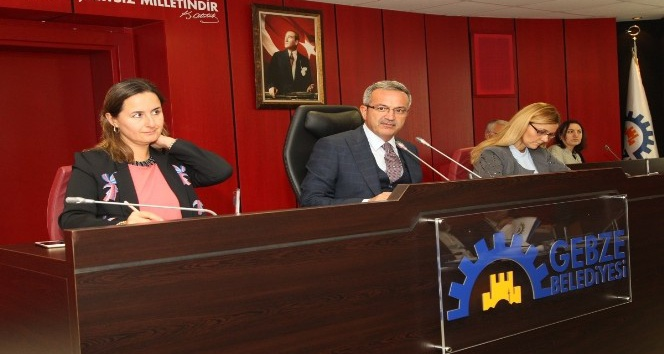Gebze Belediyesi Ekim meclisi ilk oturumu tamamlandı