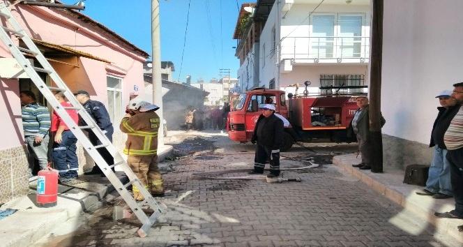 Havran'da korkutan yangın