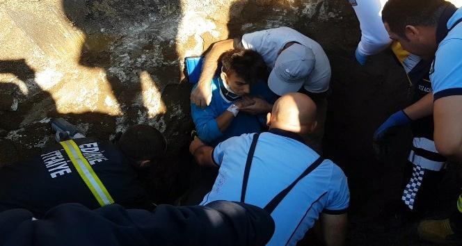 İçme suyu isale hattında toprak kayması: 2 işçi yaralı