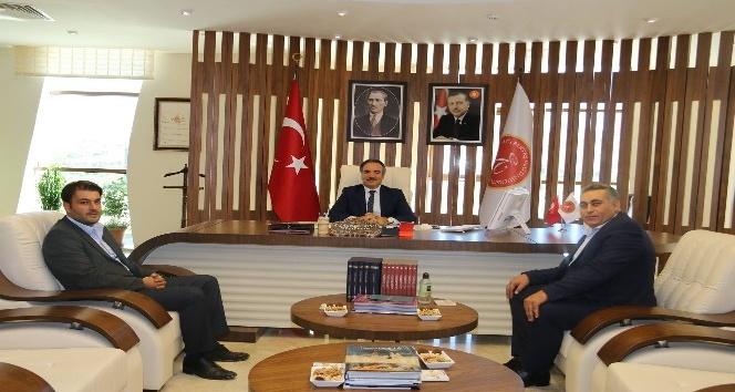 MHP İl Başkanı Kaya, Rektör Bağlı'yı ziyaret etti