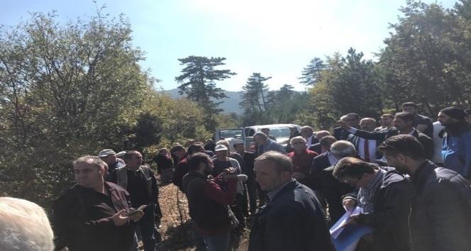 Köy halkı ayaklandı