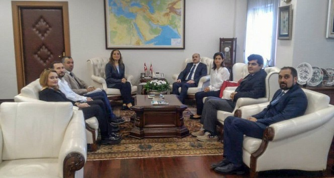 Rektör Çakar ve öğretim üyeleri Vali Dağlı'yı ziyaret etti
