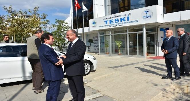TESKİ Müdürü Başa Çanakkale Valisi Tavlı'yı ağırladı