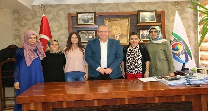 Finalistler TSO Başkanı Özcan'ı ziyaret etti