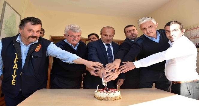 Başkan Arslan, itfaiye personelini unutmadı