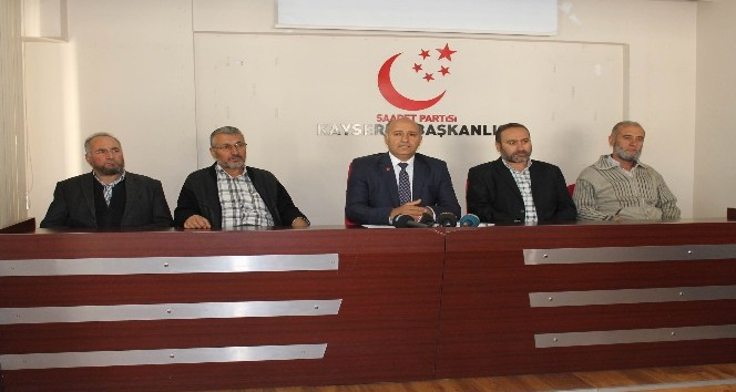 Saadet Partisi Melikgazi İlçe Başkanı Sinan Aktaş