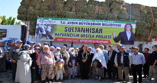 Başkan Çerçioğlu'ndan üreticiye kaba yem desteği