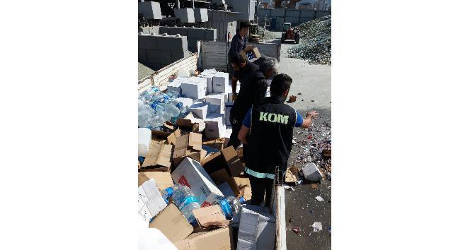İzmir'de 390 bin TL değerinde içki imha edildi