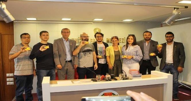Denizli'de 7 Gazeteci Basın Kartı verildi