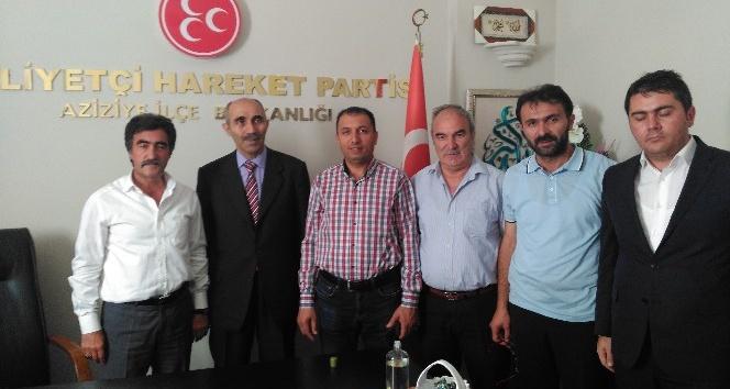 AK Parti İlçe teşkilatından MHP ilçe teşkilatına ziyaret