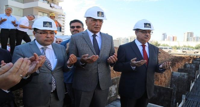 Mezitli'de yapılacak Akabe Camisi'nin temeli törenle atıldı