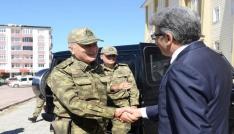 9ncu Kolordu Komutanı Korgeneral Tarçından Vali Bilmeze ziyaret