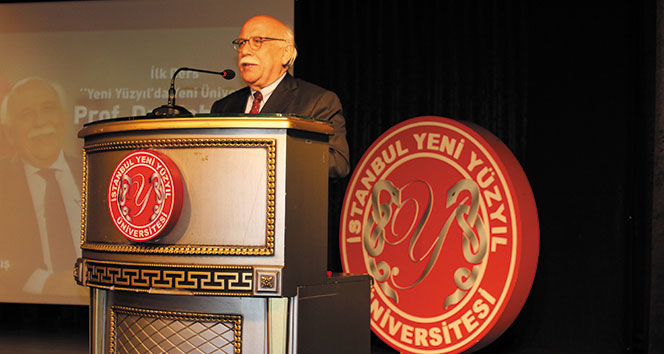 Yeni akademik yılın ilk dersini Eski Bakan Prof. Dr. Nabi Avcı verdi
