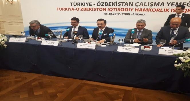 TOBB Başkanı Hisarcıklıoğlu, Özbek yetkililerle buluştu