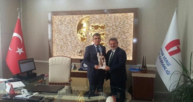 AYESOB Başkanı Çetindoğan'dan Vergi Dairesi ve Emniyete teşekkür ziyareti