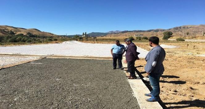 Kaymakam ve Belediye Başkan Vekili Özkan, Yolalan'da ki çalışmalarını yerinde inceledi
