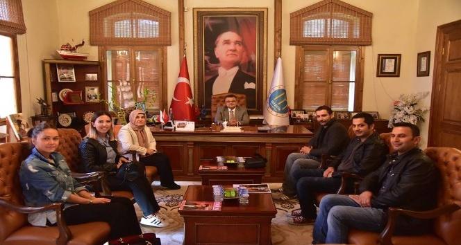 Başkan Yağcı, Okul Müdürü ve öğretmenlerle bir araya geldi