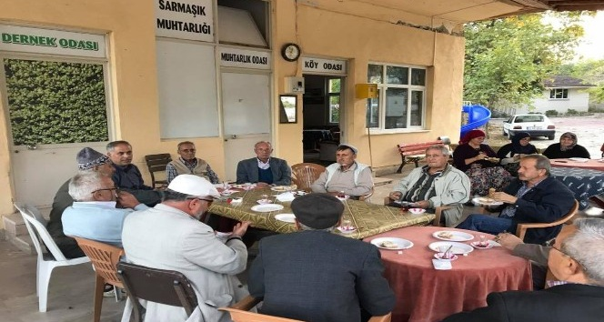Başkan Yaman'ın köy ziyareti