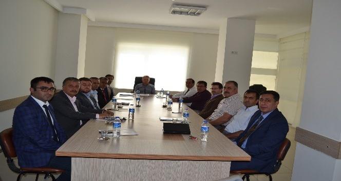 Korkuteli'de Okul Müdürleri ile Güvenlik Toplantısı