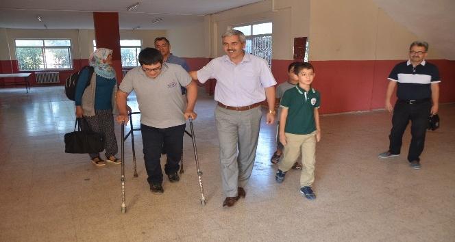 İHA duyurdu, engelli Mustafa'nın servis sorunu çözüldü