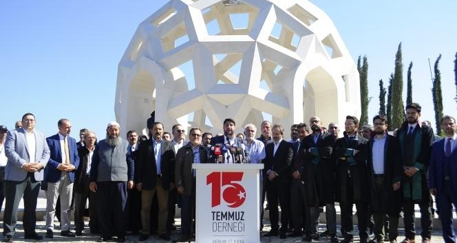 15 Temmuz Şehitler Köprüsü davası öncesi Şehitler Makamında açıklama yapıldı