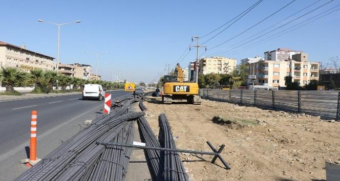 Turgutlu kavşak projesinde altyapı çalışmaları başladı