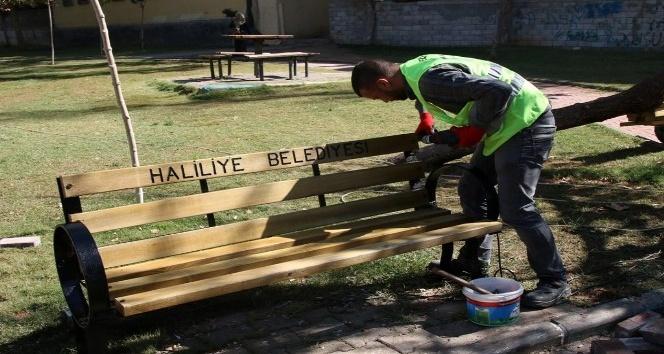 Ahmet Yesevi Parkında yenileme çalışmaları yapıldı