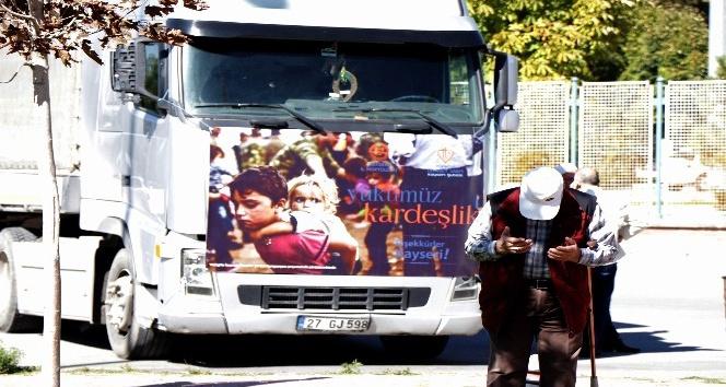 Kayseri'den Halep'e yardım eli