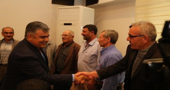 Başkan Özgüven'e vatandaşlardan teşekkür ziyareti
