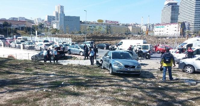 Esenyurt'ta polisten kaçan şahıslar ortalığı birbirine kattı